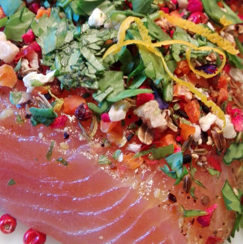 Marinated Salmon (Graved) Aphrodite Style