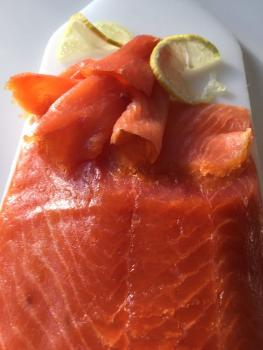 Irish organic smoked salmon, gently smoked