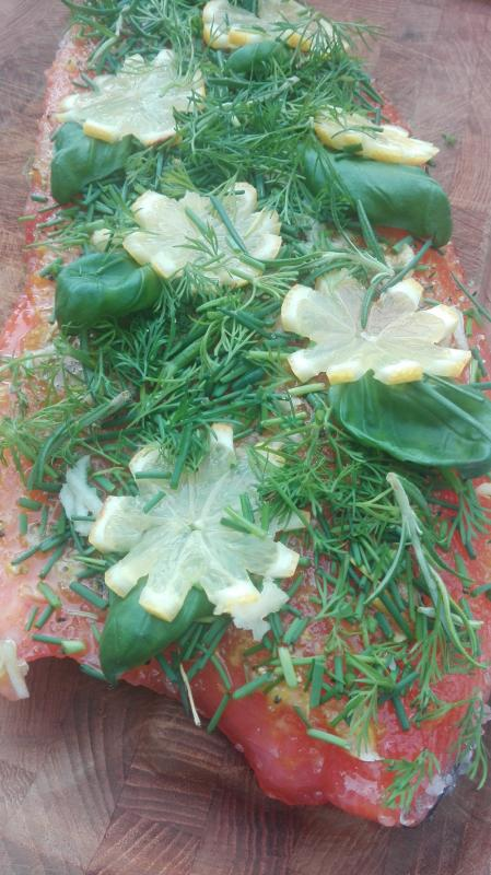 Graved to Grill Garlic, Brown Sugar and Fresh Herbs