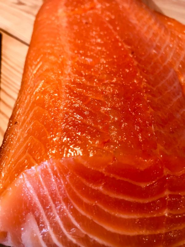 Scottish smoked salmon , uncut
