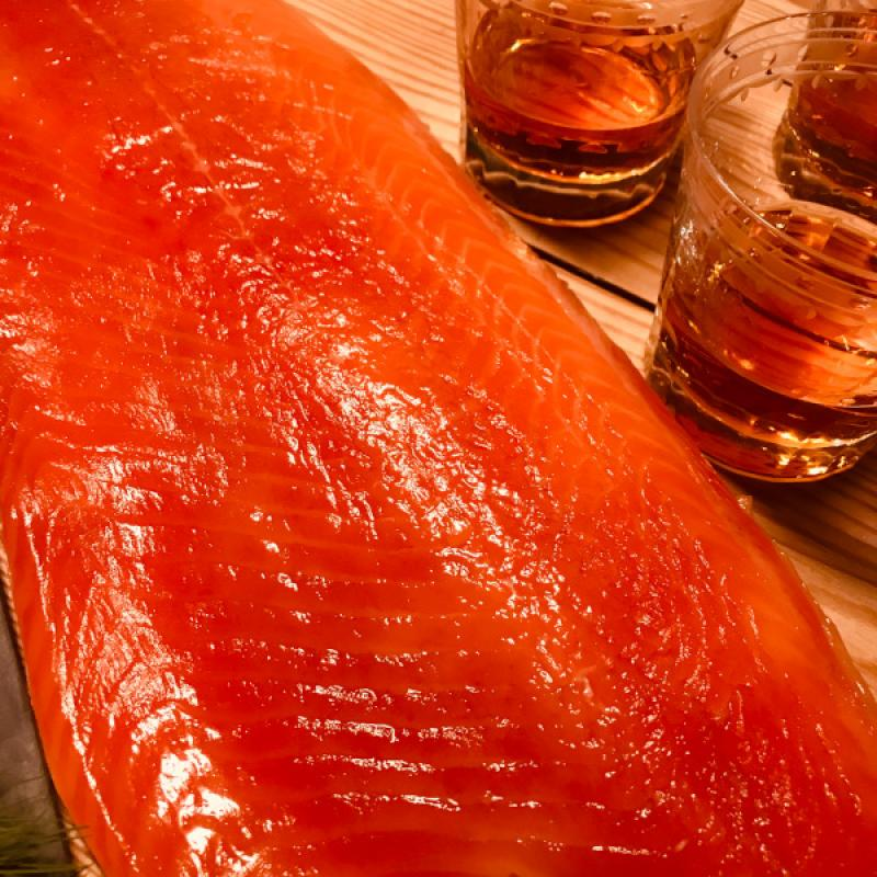 "Graved Lachs ""Whisky"" 1.1 kg - gebeizt mit schottischem Single Malt Whisky"
