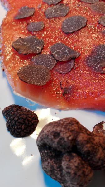 Salmon marinated with White ALBA Summer Truffle Tuber Albidum Pico 300g